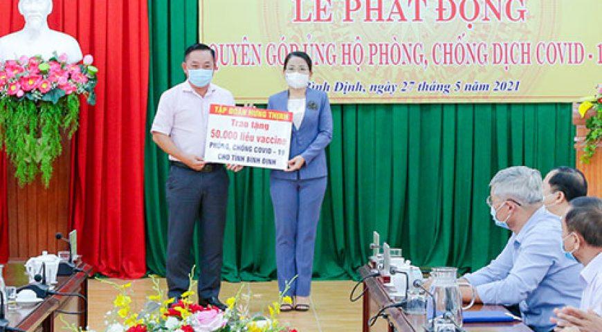 Tập Đoàn Hưng Thịnh trao tặng 50.000 liều vắc-xin phòng, chống Covid-19 cho tỉnh Bình Định – Tập đoàn Hưng Thịnh